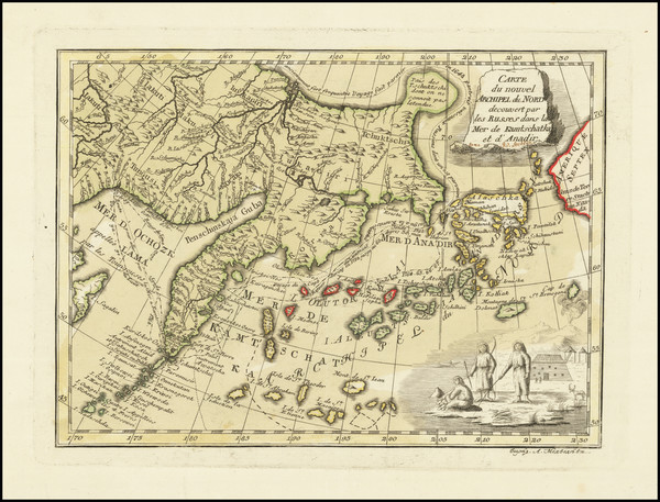 71-Alaska and Russia in Asia Map By Jakob Staehlin von Storcksburg