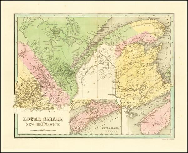 44-Eastern Canada Map By Thomas Gamaliel Bradford