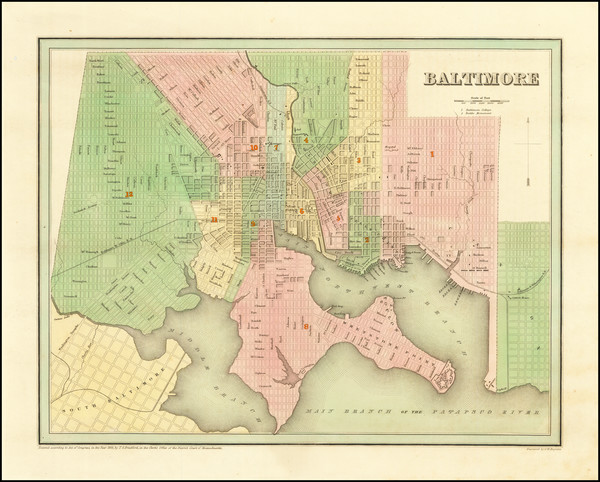 94-Maryland Map By Thomas Gamaliel Bradford
