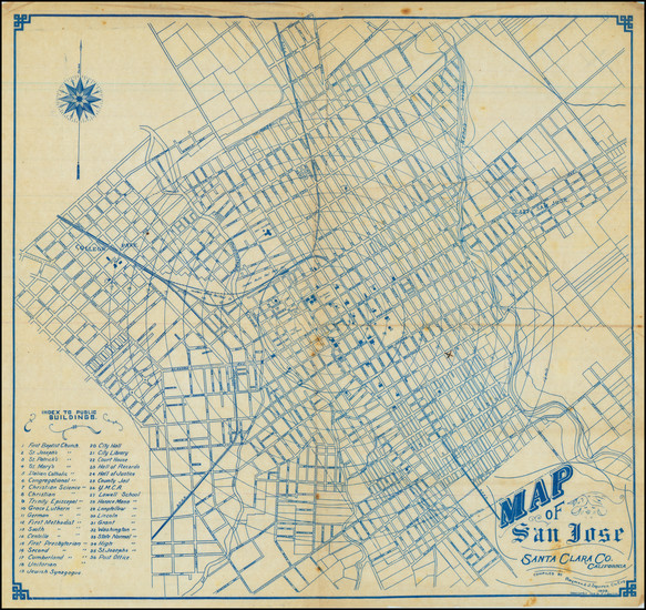 99-San Francisco & Bay Area and Other California Cities Map By Raymond J. Squires