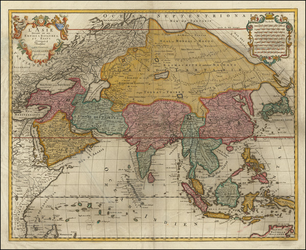96-Asia Map By Jan Barend Elwe