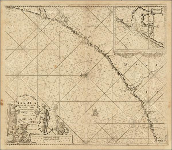 57-North Africa Map By Johannes Van Keulen