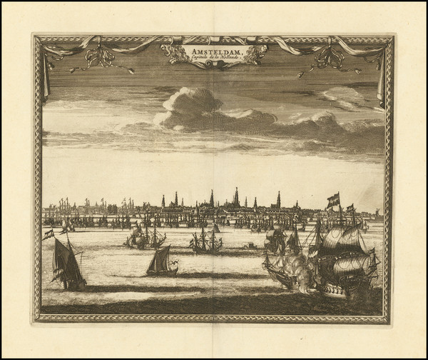 50-Amsterdam Map By Pieter van der Aa