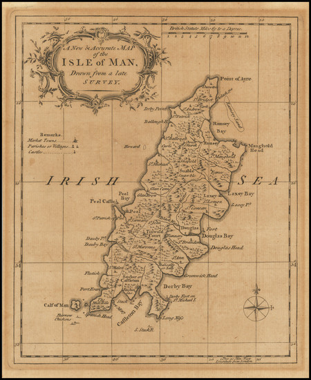 34-British Counties Map By Richard William Seale