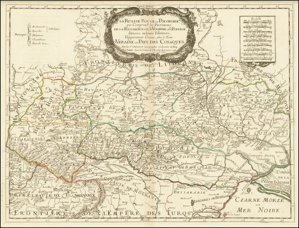 35-Poland and Ukraine Map By Nicolas Sanson