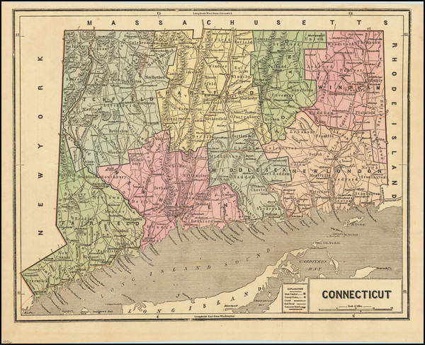 65-Connecticut Map By Charles Morse