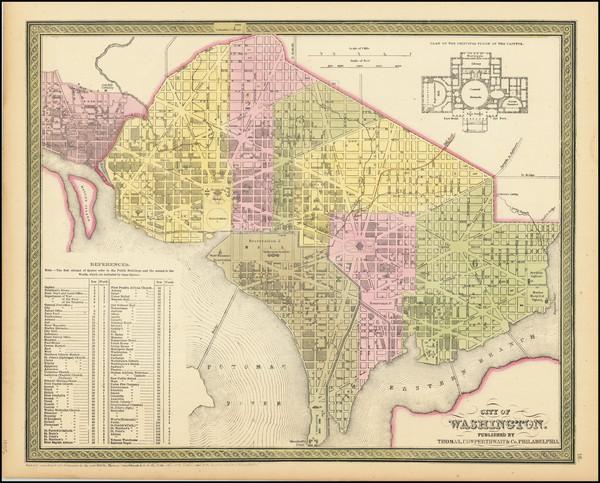 65-Washington, D.C. Map By Thomas, Cowperthwait & Co.