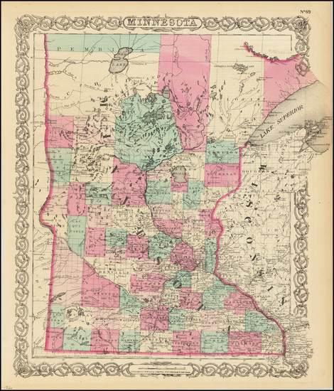 29-Minnesota Map By G.W.  & C.B. Colton