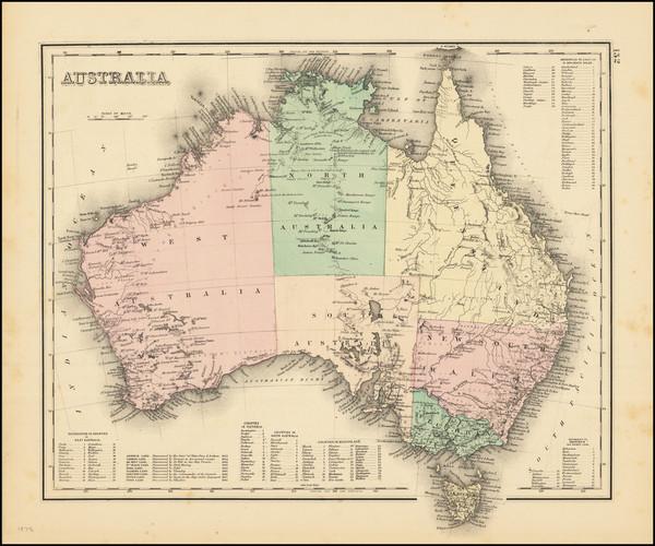 40-Australia Map By O.W. Gray