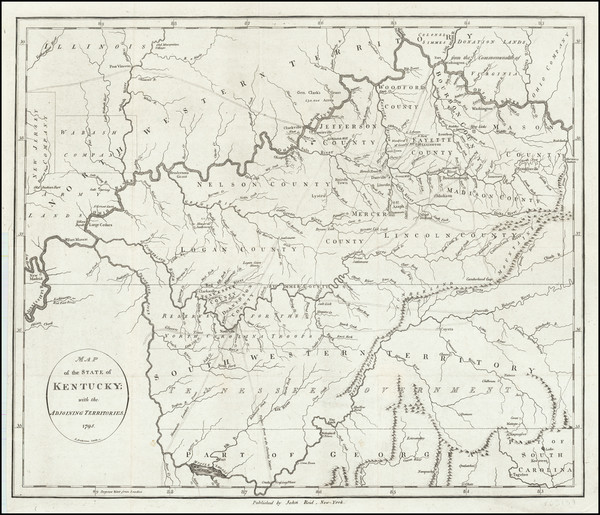 67-Kentucky and Tennessee Map By John Reid