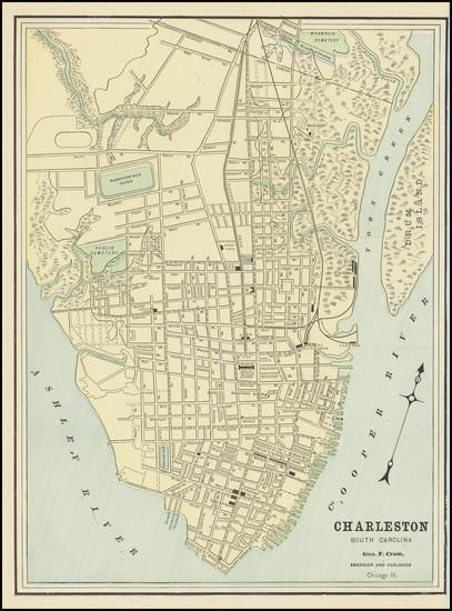 37-South Carolina Map By George F. Cram