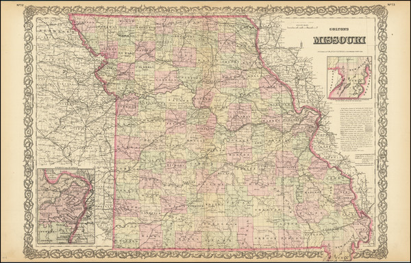 42-Missouri Map By G.W.  & C.B. Colton