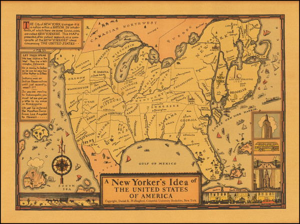 97-United States and Pictorial Maps Map By Daniel K. Wallingford