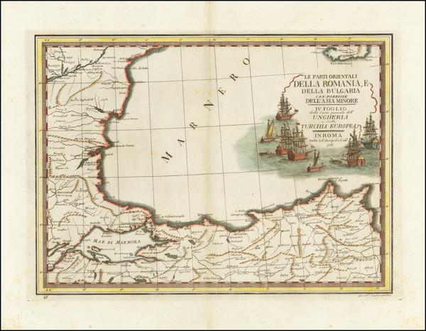 10-Romania, Bulgaria and Turkey Map By Giovanni Maria Cassini