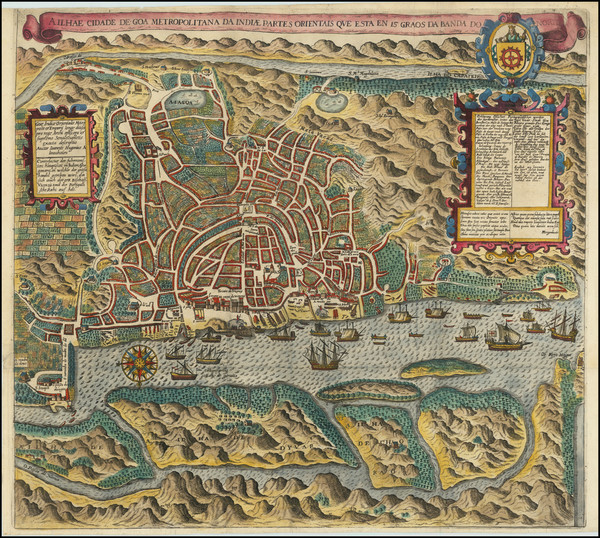 71-India and Other Islands Map By Theodor De Bry