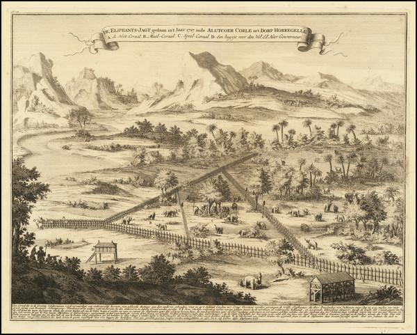 70-Sri Lanka and Curiosities Map By Francois Valentijn