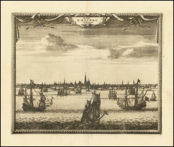 58-Netherlands Map By Pieter van der Aa