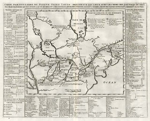 78-Midwest, Plains and Canada Map By Henri Chatelain