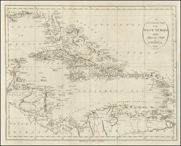 25-Florida, Caribbean and Central America Map By John Reid
