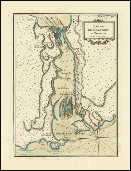 31-Sud et Alpes Française Map By Jacques Nicolas Bellin