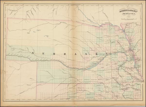 55-Nebraska Map By Asher  &  Adams