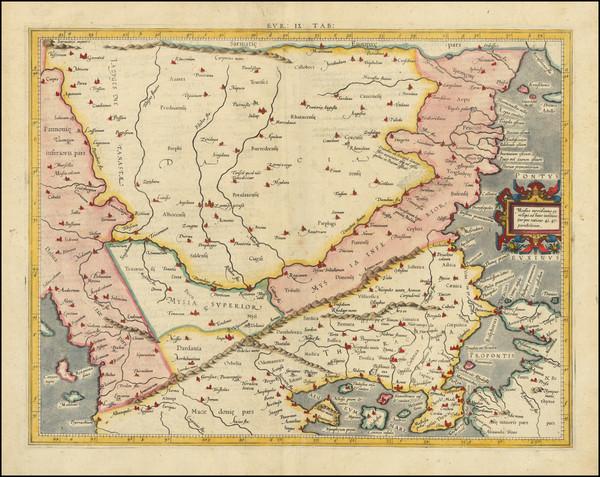 92-Romania and Turkey Map By  Gerard Mercator