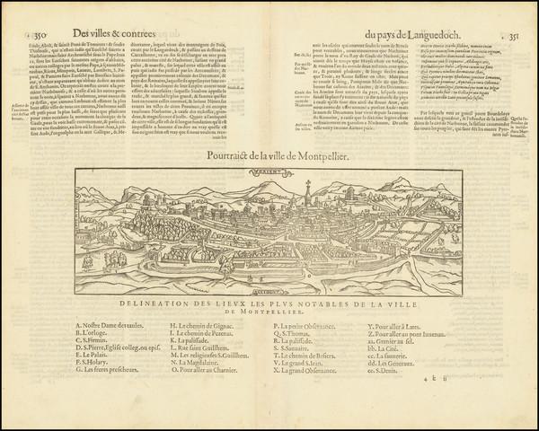 58-Sud et Alpes Française Map By Francois De Belleforest