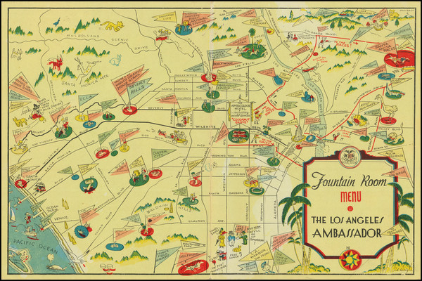 67-Pictorial Maps and Los Angeles Map By Arthur Justin (Jud) Wright