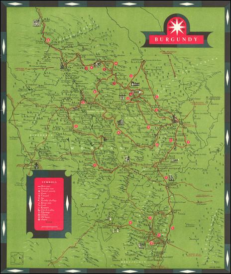 83-Pictorial Maps and Centre et Pays de la Loire Map By Sofcar / Ministere des Travaux Publics