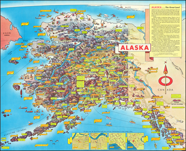 20-Alaska and Pictorial Maps Map By Don Bloodgood
