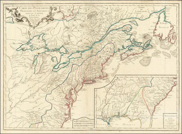 92-United States, New England, Mid-Atlantic, Southeast, Midwest and Canada Map By S.G. Longchamps