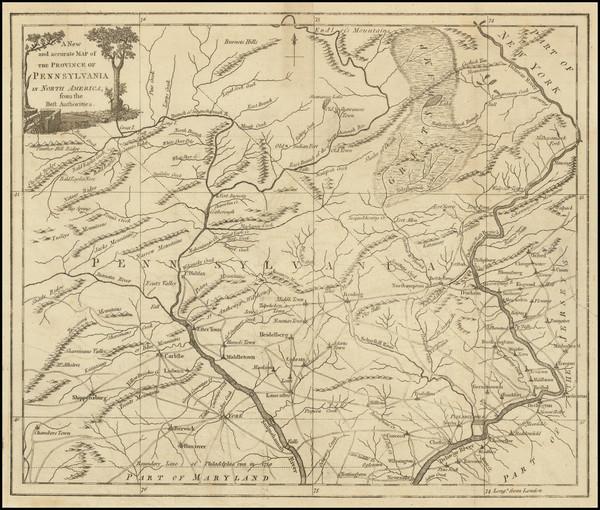 62-Mid-Atlantic and Pennsylvania Map By Universal Magazine