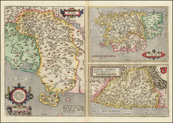 78-Northern Italy and Corsica Map By Abraham Ortelius