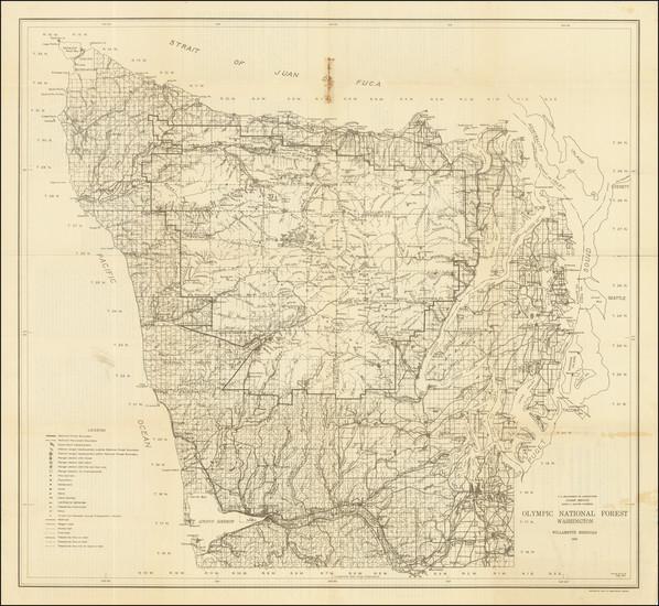 66-Washington Map By Edward J. Hanzlik