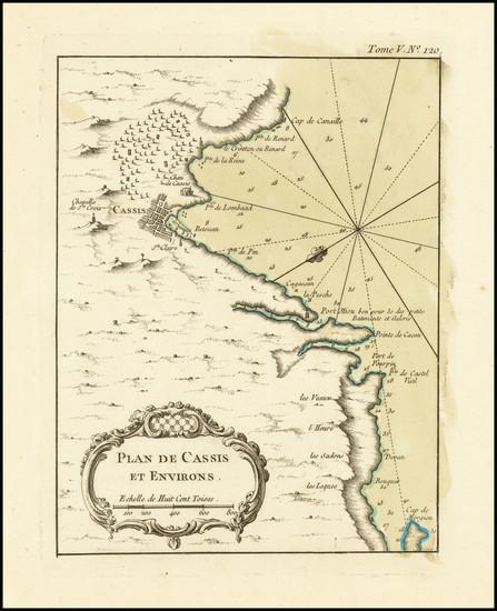 69-Sud et Alpes Française Map By Jacques Nicolas Bellin