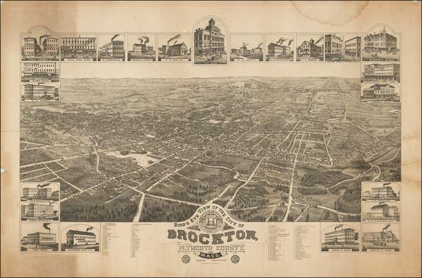 88-Massachusetts Map By J.J. Stoner / Beck & Pauli