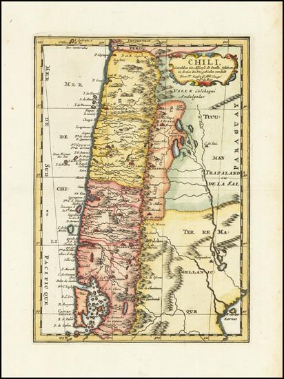 67-Chile Map By Nicolas Sanson