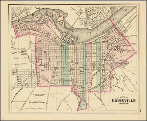 30-Kentucky Map By O.W. Gray