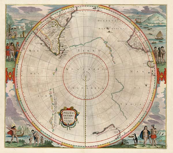 40-World, Polar Maps, Australia & Oceania, Pacific, Australia and New Zealand Map By Jan Janss