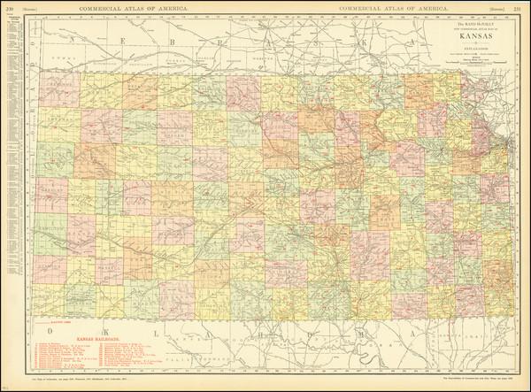 62-Kansas Map By Rand McNally & Company