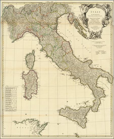 14-Italy Map By Thomas Kitchin