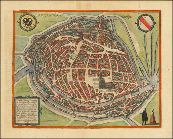 43-Other French Cities and Nord et Nord-Est Map By Georg Braun  &  Frans Hogenberg