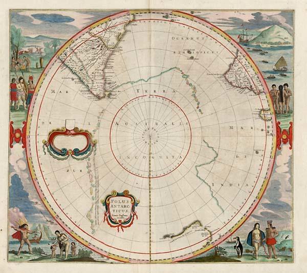 67-World, Polar Maps, Australia & Oceania, Pacific, Australia and New Zealand Map By Jan Janss