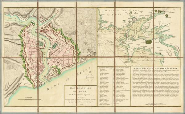 57-Bretagne Map By P. L. Bermont / Jean Lattré