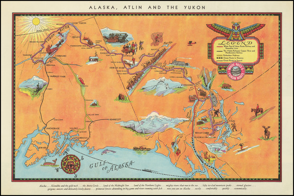 48-Alaska and Pictorial Maps Map By White Pass & Yukon Route