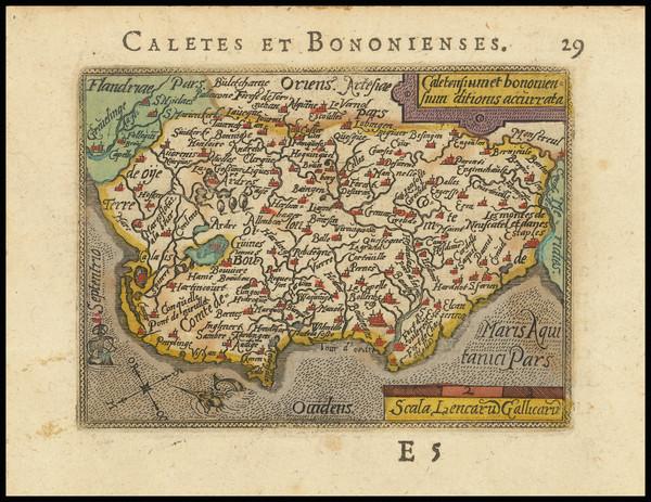 69-Nord et Nord-Est Map By Abraham Ortelius