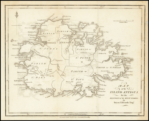 98-Other Islands Map By Bryan Edwards  &  John Stockdale