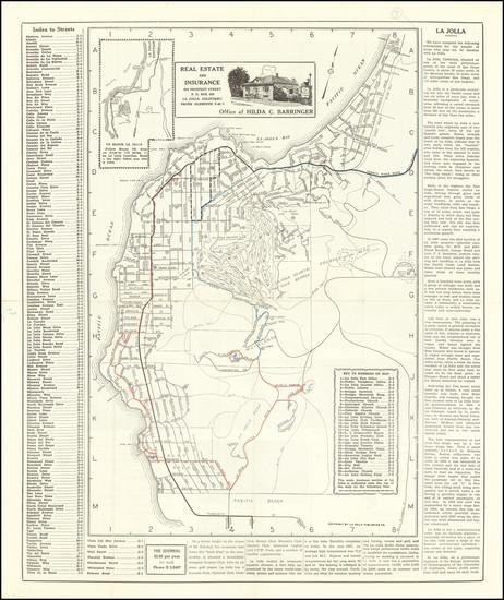 5-San Diego Map By La Jolla Printing Company