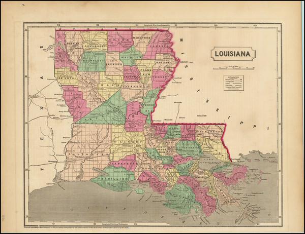 68-Louisiana Map By Charles Morse