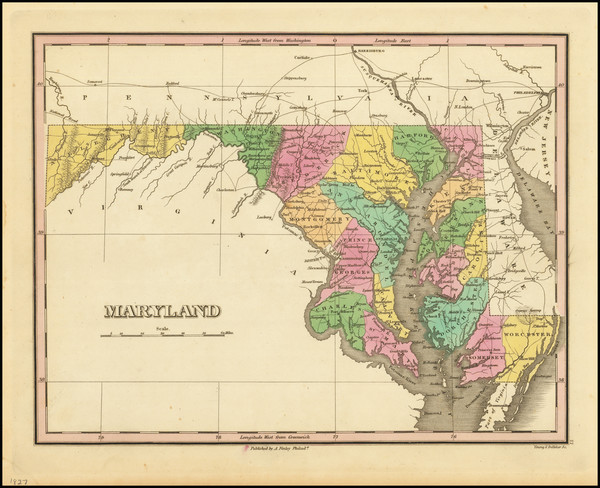 2-Maryland Map By Anthony Finley
